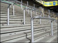 Borussia Dortmund's away end