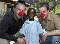 Ant McPartlin and Declan Donnelly with boy