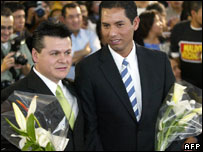 Antonio Medina (L) and Jorge Cerpa