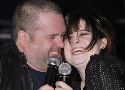 Chris Moyles and Kelly Osbourne