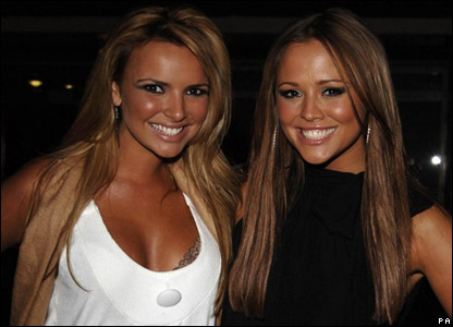 Nadine Coyle and Kimberley Walsh of Girls Aloud