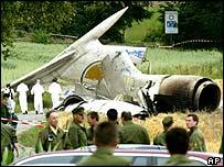 صورة ارشيفية لطائرة تبوليف محطمة
