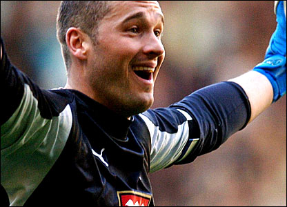 Tottenham goalkeeper Paul Robinson