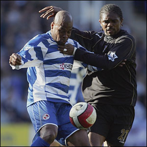 Premiership veterans Michael Duberry and Kanu fight for possession