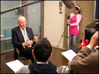Students from Villiers High School in London interviewed the leader of the Liberal Democrats, Sir Menzies Campbell, for BBC News School Report