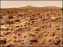 Superficie de Marte.    Imagen: NASA
