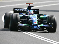 Jenson Button in the Honda at the Australian Grand Prix
