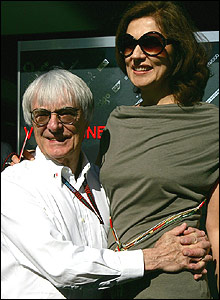 Bernie Ecclestone and his wife Slavica