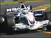 Nick Heidfeld in the BMW Sauber