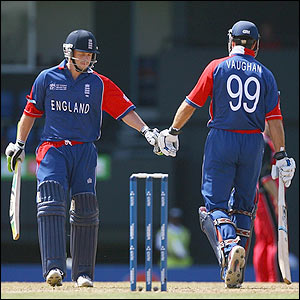 England openers Ed Joyce and Michael Vaughan