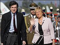 Gert Rosenthal y Michelle Bachelet