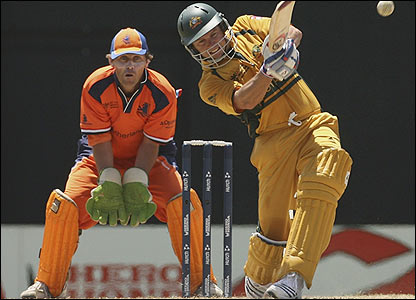 Australia's Brad Hodge hits out