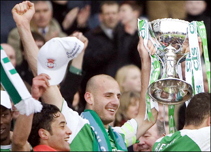 Hibs win the league cup