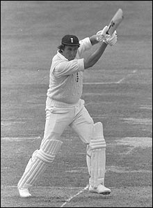 Bob Woolmer batting during the second Test match against the West Indies at Lord's in 1980
