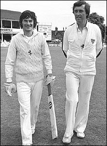 Alan Knott and Woolmer pictured in July 1980 while playing for Kent