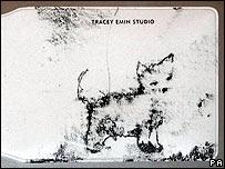 Design on Tracey Emin's wallet