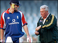 Andrew Flintoff and Bob Woolmer