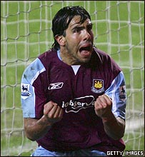 Carlos T�vez se ha convertido en la inspiraci�n del West Ham.