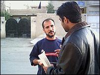 Encuestador en Irak.