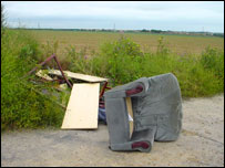 Furniture dumped in Kent
