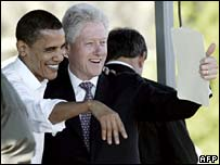 Barack Obama y Bill Clinton