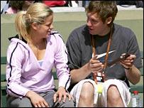 Kim Clijsters and boyfriend Brian Lynch