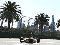 Heikki Kovalainen's Renault during the Australian Grand Prix