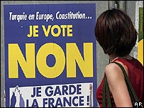 No campaign poster in France, May 2005