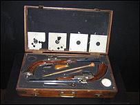 Парные пистолеты работы П.Лепаж-Мутье. Франция, Париж 1840-1848 год
