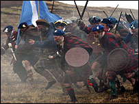 Culloden charge - Picture by Dougie Johnston