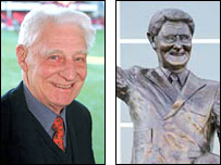 Saints legend Ted Bates and his statue