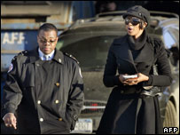 New York Police official and Naomi Campbell