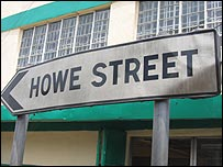 Howe Street sign in Freetown