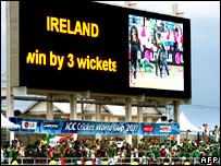 Pakistan-Ireland game scoreboard