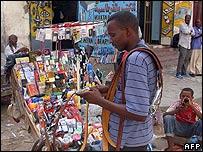Hawker working in Mogadishu, Somalia