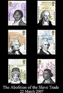 Stamps marking the 200th anniversary of the abolition of slavery