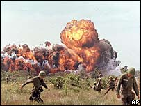 Napalm attack in Vietnam