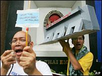 Protestors. Image: AP