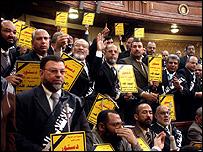 الأعضاء المعارضون في البرلمان المصري