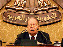 رئيس مجلس الشعب المصري فتحي سرور
