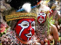 Tribal people at the Goroka festival in Papua New Guinea