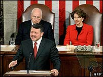 King Abdullah II of Jordan addresses US Congress