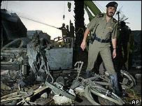 Debris of suicide attack in Riyadh, 2004