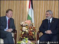 Raymond Johansen meets Ismail Haniya