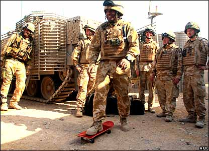 British troops in Iraq relaxing