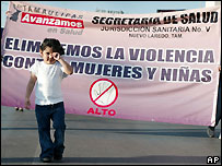 March against domestic violence on International Women's Day - 8/3/2007