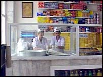 Abdul Hussain Shakarchi in his bakery shop