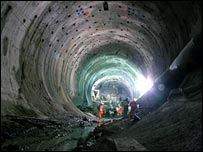 Amsteg tunnel (photo courtesy AlpTransit Gotthard Ltd)