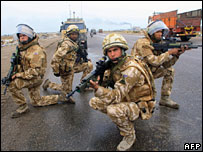 British troops on patrol in Iraq