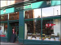 Bottoms Up on Hyndland Road, Glasgow